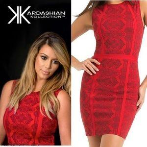 Kardashian kollection red and black dress size S